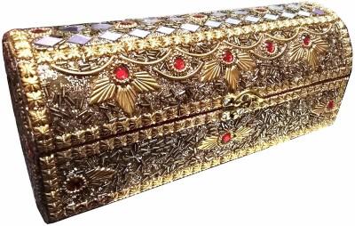 Lifex bangle box makeup and jewellery box Vanity Box(golden)