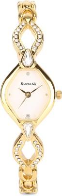 Sonata ND8063YM03C Sona Sitara Analog Watch   For Women Sonata Wrist Watches
