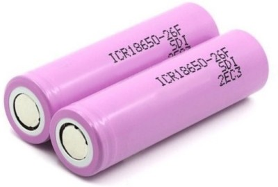RCE 2 pcs 18650 2600mAh 3.7v Li-ion Rechargeable Batteries Camera Lithium-ion Battery(Pack of 2)