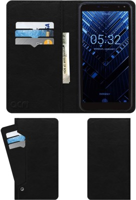 ACM Flip Cover for Tennzo T1(Black, Cases with Holder)
