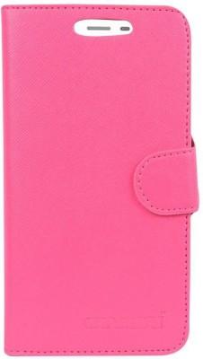CHAMBU Flip Cover for Intex Aqua Jewel 2(Pink, Shock Proof)