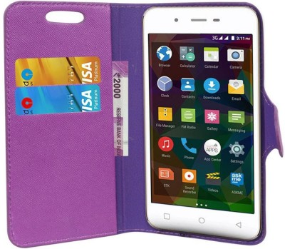 CHAMBU Flip Cover for Xolo Black 3GB(Purple, Hard Case)