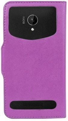 CHAMBU Flip Cover for Lava Mobiles X3(Purple, Hard Case)