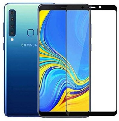GALEX Edge To Edge Tempered Glass for Samsung Galaxy A9 2018 5D Full Glue Tempered Glass (Black) |5D Tempered Glass For Samsung A9 2018(Pack of 1)