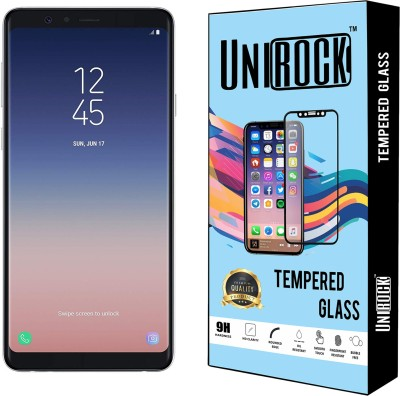 Unirock Tempered Glass Guard for Samsung Galaxy A8 Star (White, 6GB RAM, 64GB Storage)(Pack of 2)