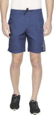 Beevee Solid Men's Dark Blue Sports Shorts