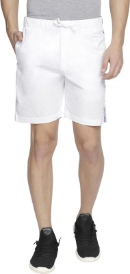 Beevee Solid Men's White Sports Shorts