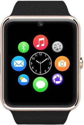 stark GT08 Gold phone Gold Smartwatch(Black Strap Regular) at flipkart