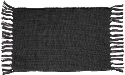 The Home Talk Rectangular Pack of 4 Table Placemat(Black, Cotton) at flipkart