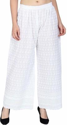 SriSaras Regular Fit Women White Trousers