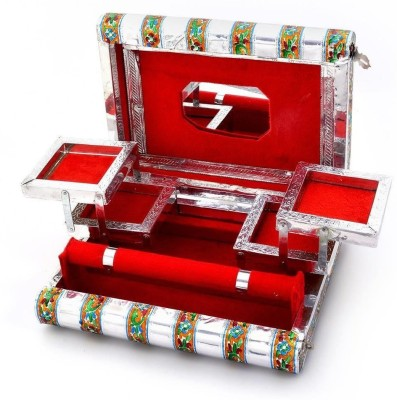 Anavi handicrafts Jewellery Box jewellery Vanity Box(Silver)