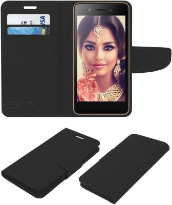 ACM Flip Cover for Itel A23(Black, Cases with Holder)