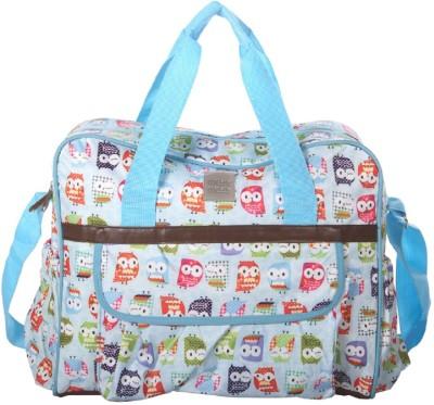 MeeMee Multipurpose Diaper Bag with Bottle Warmer   Changing Mat  Blue  Nursery Bag Blue MeeMee Diaper Bags