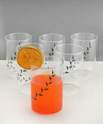Borosil BVVIBLEAFBM Glass Set(Glass, 295 ml, Clear, Pack of 6)