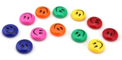 VR Creatives Round Cartoon Emoji Smile Smiley Face Fridge Magnets Refrigerator Magnetic Sticker Fridge Magnet Pack of 12(Multicolor) at flipkart