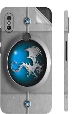 Snooky Mi Redmi Note 6 Pro Mobile Skin(Blue)