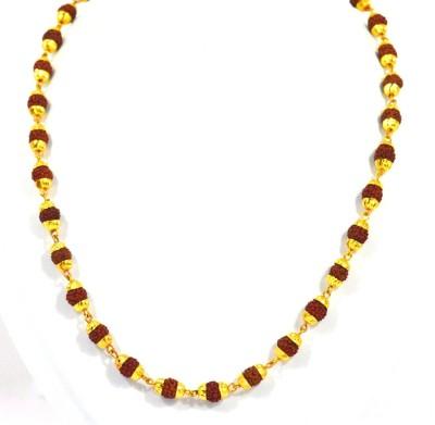 SHIV MART Rudraksh Mala Shiva Unisex Gold-plated Plated Alloy Chain Gold-plated Plated Metal Chain