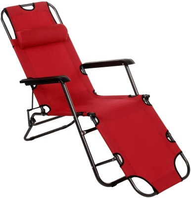 Story@Home Metal Living Room Chair(Finish Color - Red)