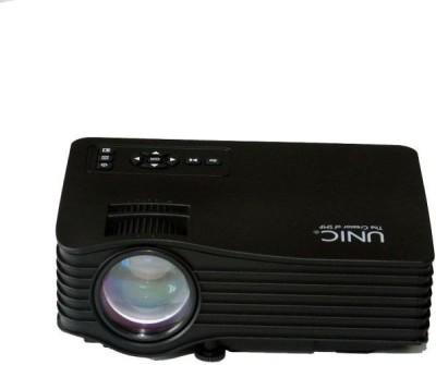 Mezire ™UC36 Wifi Brand New Wi-Fi Ready Mini LED Full Hd Full Entertainment Led Projector (Black) Portable Projector(Black)