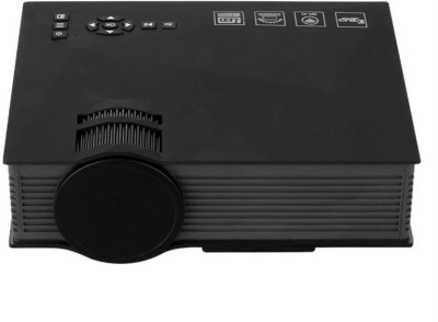 Mezire ® Upgraded UC46 Mini LCD WIFI Compact Theater Multimedia Video 1200 lm LED Corded Portable Projector(Black) Portable Projector(Black)
