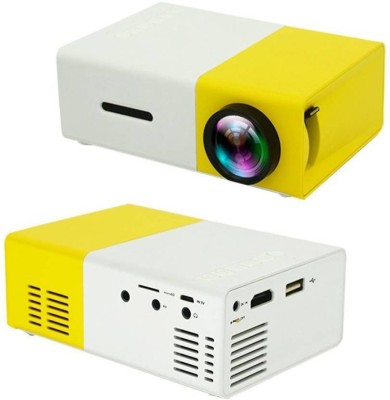Mezire ® Mini Projector, YG300 Portable Pico Full Color LED LCD Video Projector 400 lm LCD Corded Portable Projector(White) Portable Projector(Multicolor)