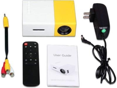 Mezire Mini Projector Portable 1080P LED Projector Home Cinema Theater Indoor/Outdoor Movie projectors Portable Projector(Yellow) Portable Projector(Multicolor)