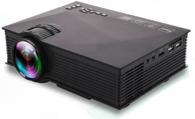 Zeom ™ UC-46 Mini Video LED HDMI Home Theater LCD TV Multimedia USB VGA 1200 lm LED Corded Mobiles Portable Projector(Black) Portable Projector(Black)