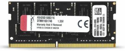 Kingston DDR4 2666Mhz ,1.2V Ram DDR4 16 GB (Dual Channel) Laptop (HX426S15IB2/16 PC4-21300 laptop Ram) at flipkart