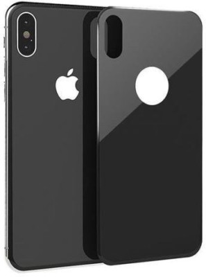 CellFAther Back Tempered Glass for 6D Full Cover Tempered Glass For iPhone X Curved Edge 9H Screen Protector Anti-Break edge Back Glass - Black(Pack of 1)