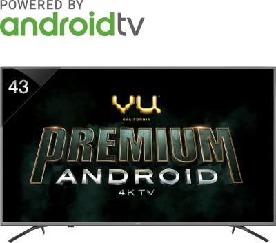 Vu Premium Android 108cm (43 inch) Ultra HD (4K) LED Smart TV(43-OA) (Vu)  Buy Online
