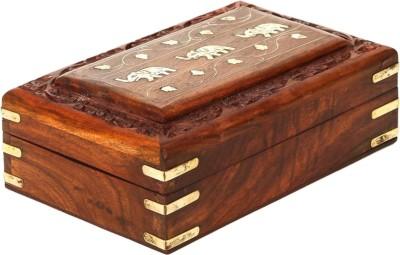 ZABAK Handcrafted Multipurpose Wooden Jewellery And Makeup Box ZBK04 Makeup And Jewellery Box Vanity Box(Brown)