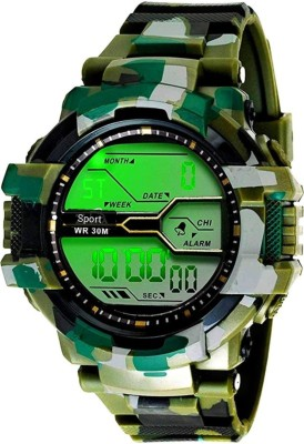 kids choice army style multi color sports watch for kids and boys Digital Watch  - For Boys