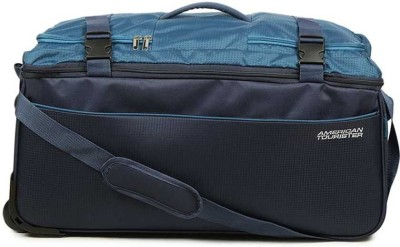American Tourister Turin Wheel 65Cm Duffel Strolley Bag(Blue)