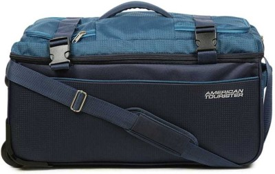 American Tourister Turin Wheel 55Cm Duffel Strolley Bag(Blue)