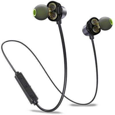 Probus X690BL Dual Driver Wireless Bluetooth Earphone Pure Bass Bluetooth Headset with Mic