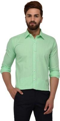 Deeksha Clothing Men's Solid Casual Green Shirt