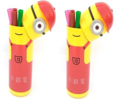 kidz Minion cartoon Nib Sketch Pens(Set of 2, Multicolor)