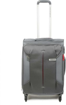American TouristerSpectralite Tsa Sp67 Frost Expandable Check in Luggage   67 cm Grey  American Tourister Suitcases