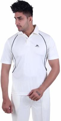 POWERHAWKE Self Design Men Polo Neck White T-Shirt