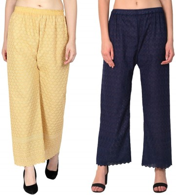 SriSaras Regular Fit Women Multicolor Trousers