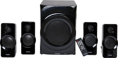 T-Series M-5555BT 4.1 Channel Bluetooth Multimedia Speaker System (Black) 55 W Bluetooth Home Theatre(Black, 4.1 Channel)
