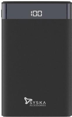 Syska 10000 mAh Power Bank(Black, Lithium Polymer)