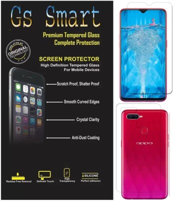 GS SMART Front and Back Tempered Glass for OPPO F9 Pro(Pack of 2)