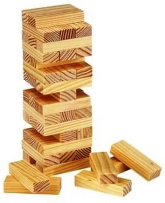 SHIVA1341 Tumbling Tower Jumbo Toppling Extra Large Stacking Game (Multi color)(Multicolor)