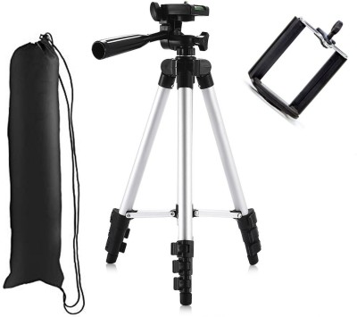 casadomani Tripod 3110 + 3-Way Head | Extend to 1020mm… | Tripod 3110 Adjustable Portable Lightweight Camera Stand 41.3inch Long With Three-Dimensional Head & Quick Release Plate For Canon Nikon Sony Cameras Camcorders DSLR/ video Camera with Mobile Holder Mount For Android Mobile Smartphone | 4-s