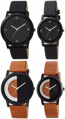 HARMI CREATIVE New Designer & Stylish Pack of 4 Couple Watch for Men & Women Combos Set of mens & Womens Analog Watch  - For Couple
