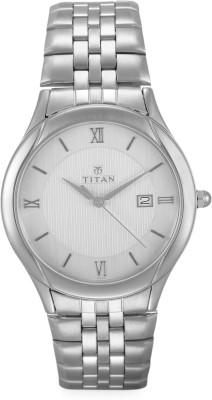 Titan NN1494SM01 Formal Steel Analog Watch   For Men Titan Wrist Watches