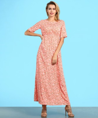 Ann Springs Women Maxi Multicolor Dress at flipkart