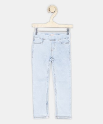 Chemistry Jegging For Girls(Light Blue, Pack of 1) at flipkart