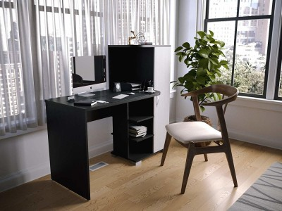 Forzza Wesley Engineered Wood Study Table(Free Standing, Finish Color - Wenge)